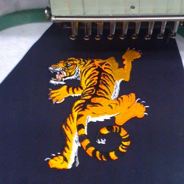 Tajima Embroidery Tiger Art
