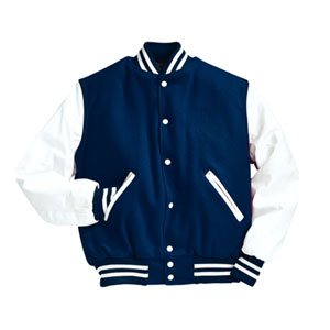 Blue and White Varsity Jacket