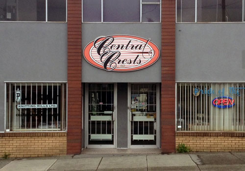 Store Front of Central Crests at 1485 Venables Street, Vancouver BC